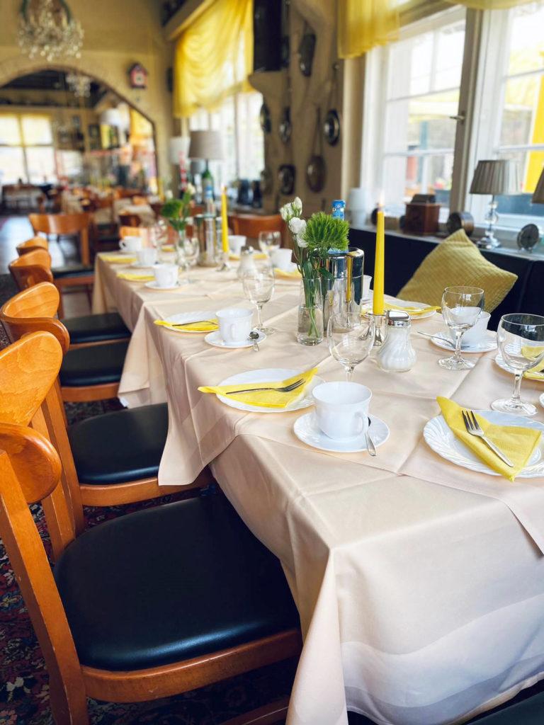 Café & Restaurant Tick-Tack - Gedeckte Tische